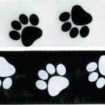 when dog grooming I finish with this Paw Print ribbon