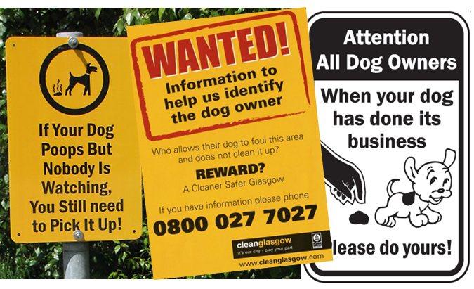 Dog fouling flyers