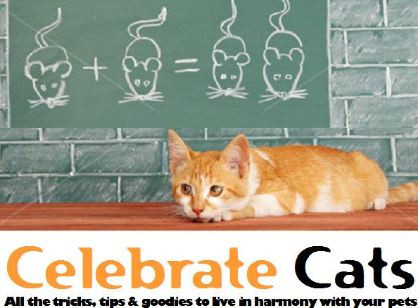 Celebrate Cats Logo for cat facts