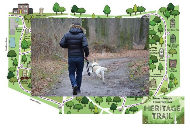 Dog walking Bow, Bromley-by-bow